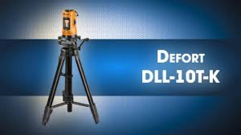 Nivela cu laser + trepied Defort DLL-10T-K