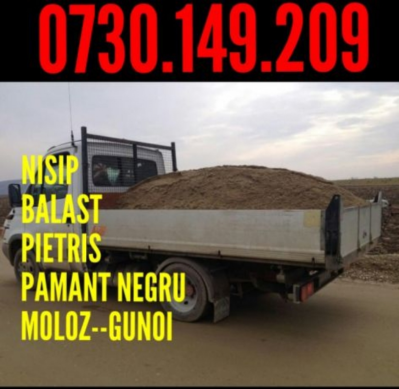 anunturi gratuite Vand/Transport nisip,balast,pietris,margaritar Bucuresti si Ilfov