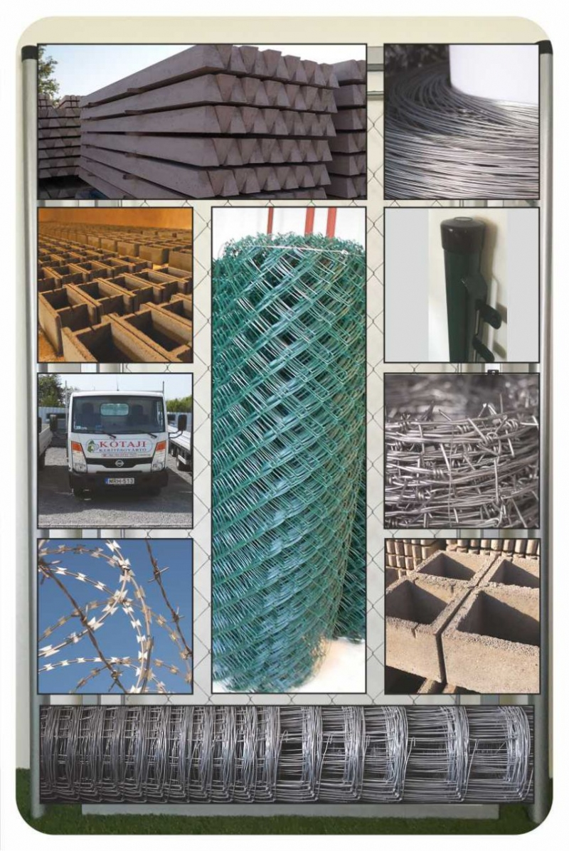 Plasa gard,stalp beton,montaj