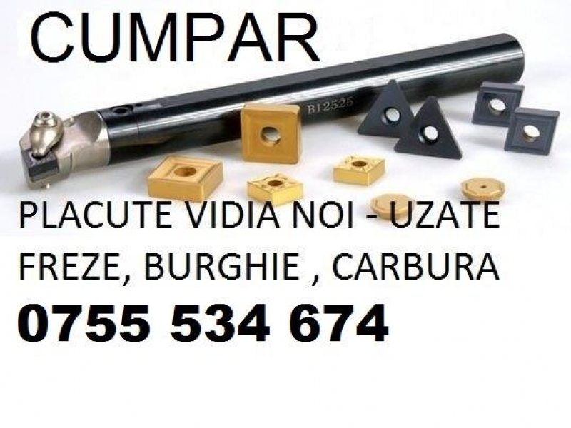 Placute vidia/deseu carbura/amovibile freze burghie/insertii carbide
