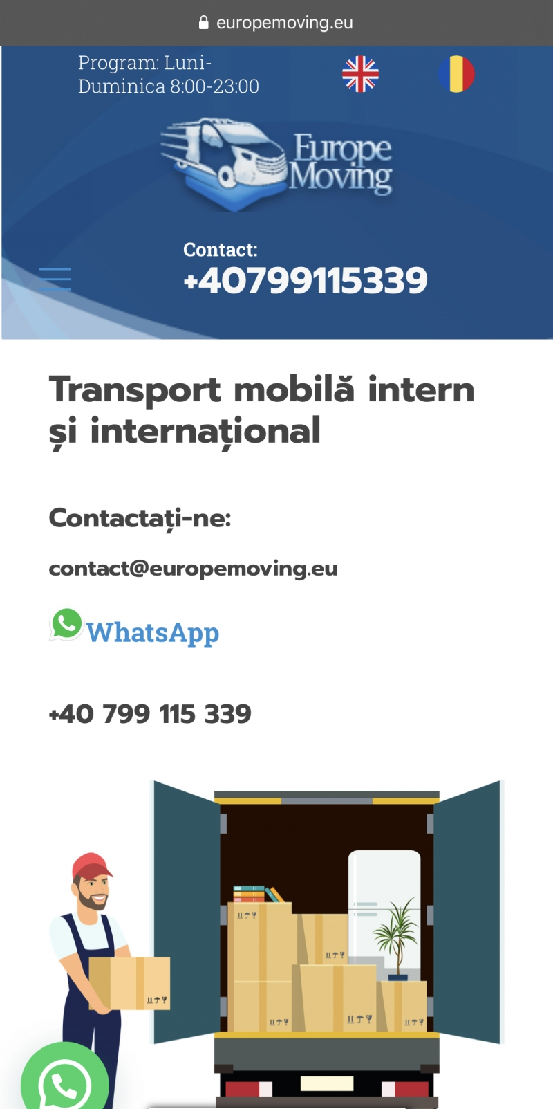 anunturi gratuite Relocari-Transport Mobila Intern si International