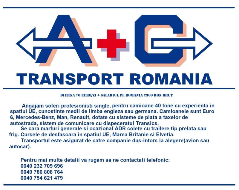 anunturi gratuite SOFERI C+E -70 EURO DIURNA