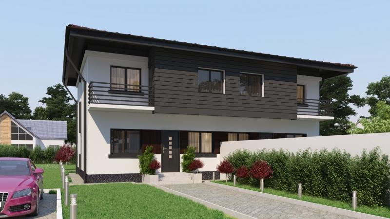 Vila in Duplex, 3 dormitoare, 2 bai, living, buc, terasa,-2018