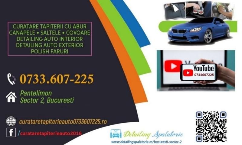 anunturi gratuite  Curatare Tapiterie Auto cu Aburi detailing spalatorie aburi bucuresti igienizare aburi spalare injectie extractie cu aburi