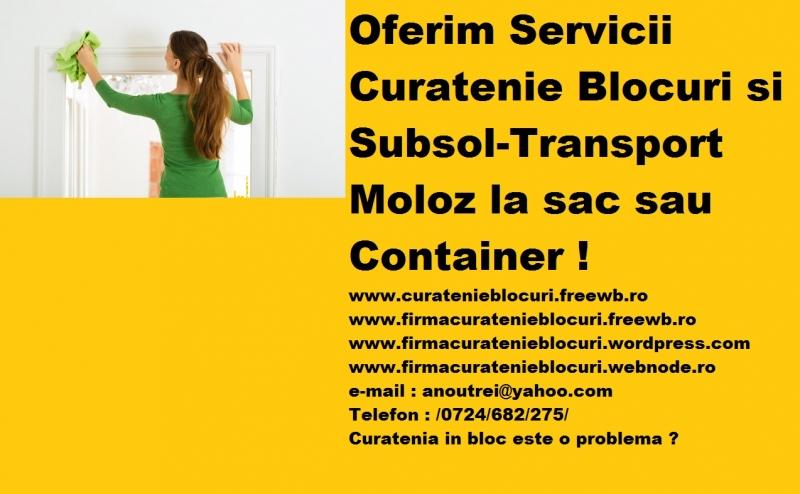anunturi gratuite Firmă Curățenie Blocuri Subsoluri /0724/682/275/.