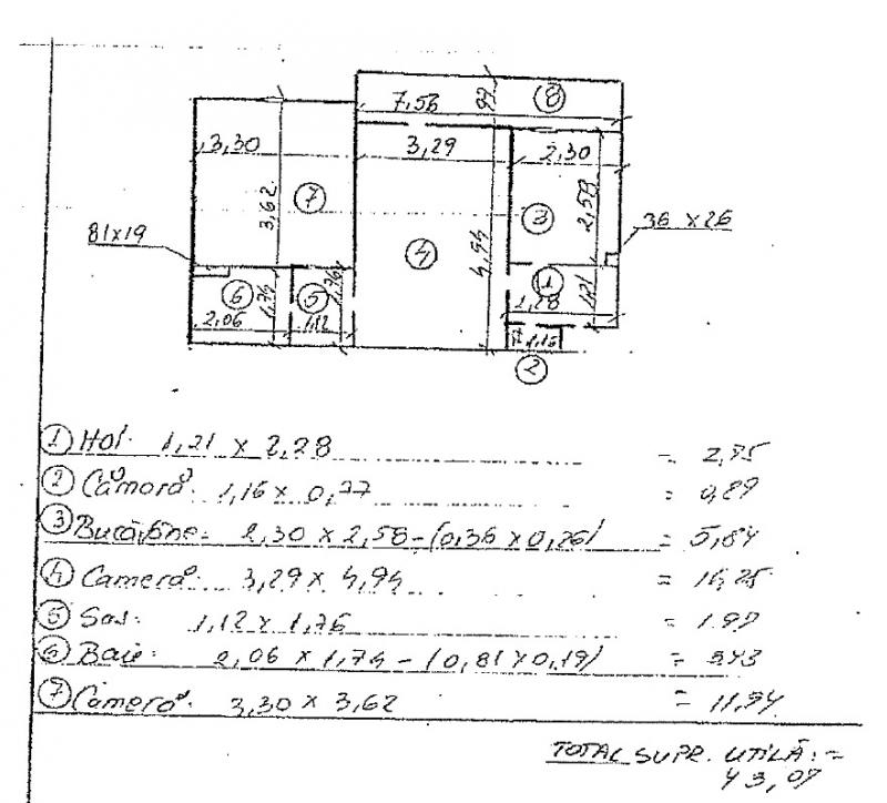anunturi gratuite Apartament 2 camere,  43.07 mp, Hunedoara