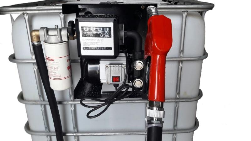 Bazin IBC  1000 l cu pompa motorina