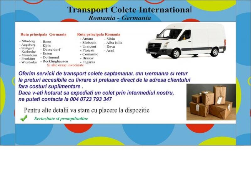 anunturi gratuite Transport Colete International
